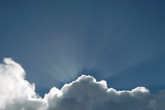 Sunshining clouds background Stock Images