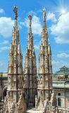 The sunshiny Milan Cathedra roof Stock Images