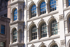 Sunshiny windows of old architectural buldings. Sunshiny windows of old buldings Stock Image