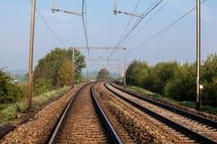Sunsine ferroviario de la pizca Foto de archivo libre de regalías