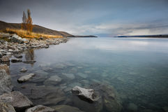 Before sunsire at paradise places in South New Zealand / Lake Tekapo. Lake Tekapo is a lakeside resort village in the Mackenzie Country in the South Island of Royalty Free Stock Image