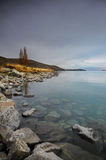 Before sunsire at paradise places in South New Zealand / Lake Tekapo. Lake Tekapo is a lakeside resort village in the Mackenzie Country in the South Island of Stock Images