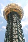 Sunsphere localizó en Knoxville Worlds Fair Site Imagen de archivo