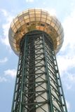 Sunsphere a placé chez Knoxville Worlds Fair Site Image stock