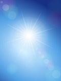 Sunspot and blue sky Royalty Free Stock Images