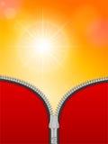 Sunspot zipper Royalty Free Stock Photography