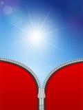 Sunspot zipper Stock Images