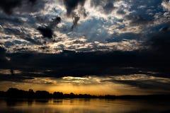 Sunsrise del fiume Fotografie Stock