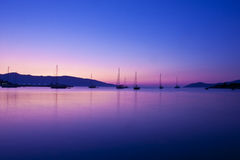 sunsrise sailing Стоковое Фото
