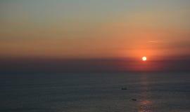 Sunst на море Стоковые Изображения