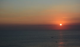 Sunst at sea. Sunset at sea in Bali stock images