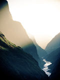 Sunst tiger leaping gorge China stock photos