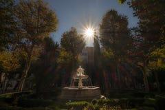 Sunstar fontanna Obrazy Royalty Free