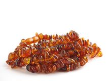 Sunstone beads Stock Photo
