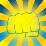 Sunstroke fist. Summer sun beams. Royalty Free Stock Images