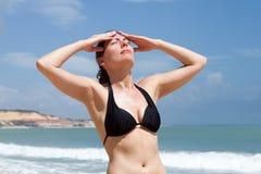 Sunstroke on holidays Stock Photo