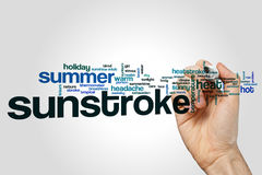 Sunstroke word cloud stock image