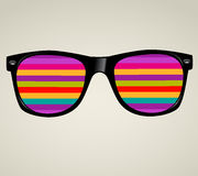 Sunsunglasses abstract  illustration background. Glasses abstract  illustration background Royalty Free Stock Photography
