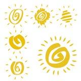 sunsymboler stock illustrationer