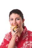 sunt äpple arkivfoto