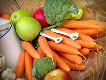 Sunt äta - organisk mat arkivbild