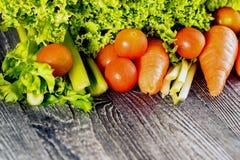 Sunt banta av ätliga gräsplaner och grönsaker royaltyfria foton