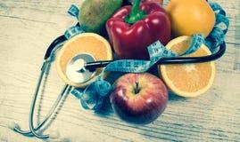 Sunt banta, viktförlust - begrepp av sunt äta arkivbilder