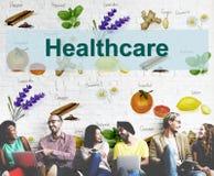 Sunt begrepp för hälsovårdbehandlingvitaminer royaltyfri bild