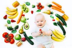 Sunt behandla som ett barn barnnäring, matbakgrund, bästa sikt Arkivbilder