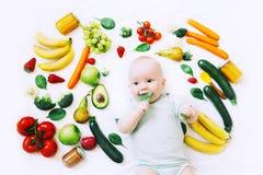 Sunt behandla som ett barn barnnäring, matbakgrund, bästa sikt Fotografering för Bildbyråer