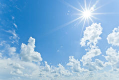 Sunt through the clouds Royalty Free Stock Photography
