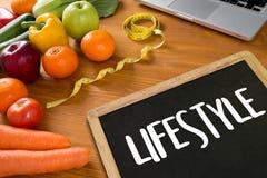 Sunt för äta för livsstilonline-webpage kallt investerar sund mat Royaltyfria Bilder