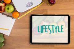 Sunt för äta för livsstilonline-webpage kallt investerar sund mat Royaltyfria Foton