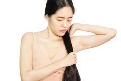Sunt långt hår för kvinna arkivfoton