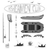 Sunt liv i natur och fiske royaltyfri illustrationer