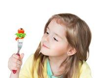 Sunt näringbegrepp för barn Ungegrönsaker arkivbilder