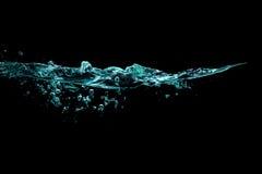 Sunt och sötvatten med syrebubblor surface vatten för guld- krusningar Arkivbild