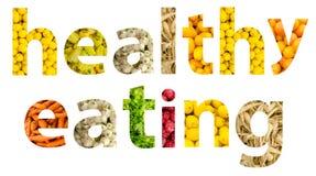 Sunt äta för frukter och för grönsaker Arkivbilder