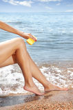 Suntan beauty Stock Images