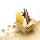 Suntan cosmetics Stock Images