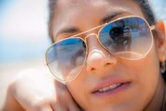 Suntan face Stock Photography