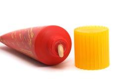 Suntan lotion Stock Images