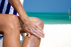 Suntan lotion Royalty Free Stock Photography