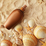 Suntan lotion Royalty Free Stock Images