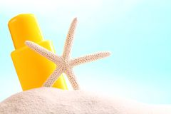 Suntan lotion Stock Images