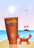 Suntan oil Stock Photos