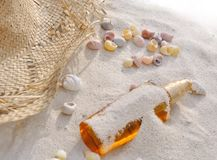 Suntan in the sand Royalty Free Stock Photography