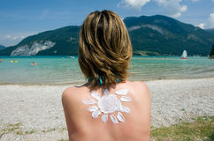 Suntan in the summer Stock Images