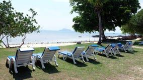 Suntanning стулья Стоковое Изображение RF