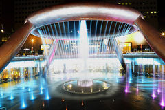 SUNTEC CITY, SINGAPORE - JULY 25: Fountain of Wealth at Night Sh Stock Photos